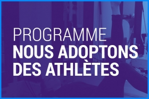 Programme de commandite pour les athlètes.
