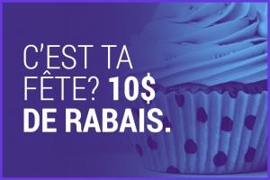 Obtenez 10$ de rabais lors de votre anniversaire. Applicable sur le Pilates, la physiothérapie et l'ostéopathie.